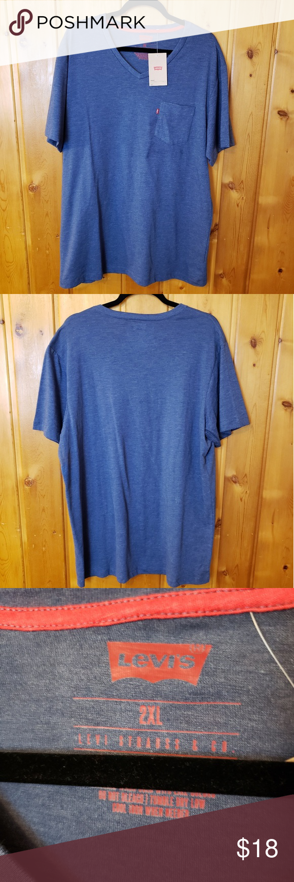 Levi's Brand Cotton Poly Blend Shirt 2XL