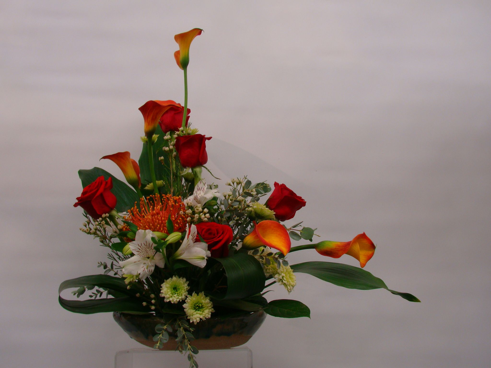 Ikebana flower arrangement japanese style long