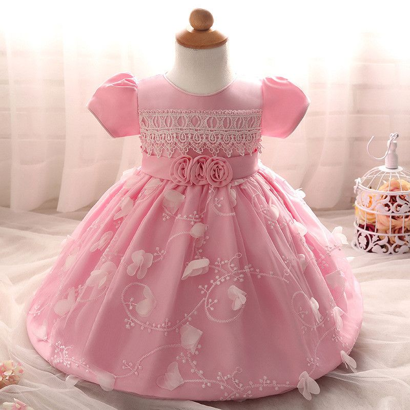 Girl Kid Baby Party Tutu Dress Toddler Flower Lace Infant Christening Gown 1-4Y