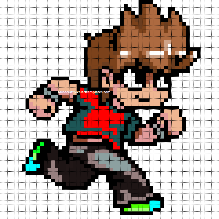 Scott Pilgrim VS The World perler pattern - Minecraft Pixel Art Tem ...