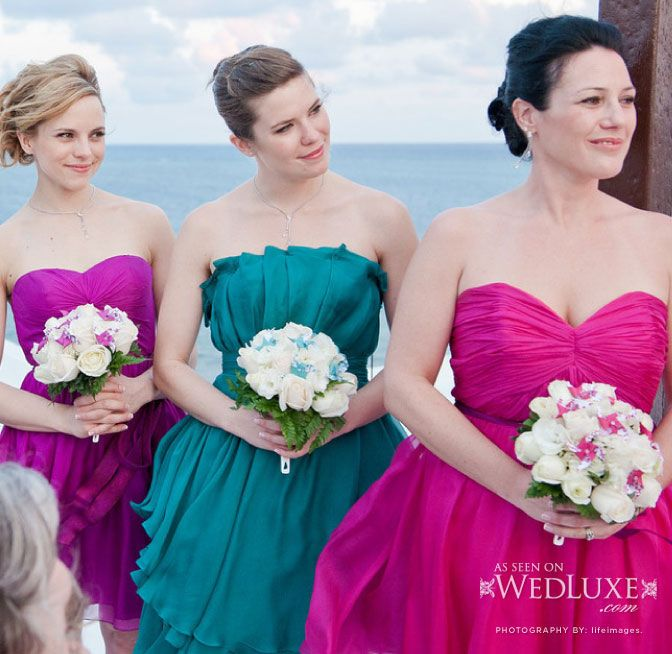 Orange Fuschia Turquoise And Purple Wedding Wedluxe Magazine