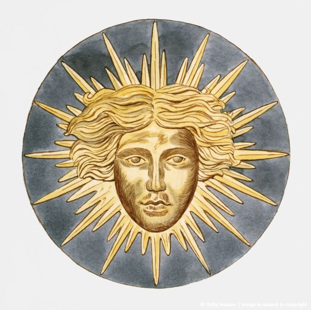 Illustration Of Sun King Emblem Of Louis Xiv Of France Sun Moon