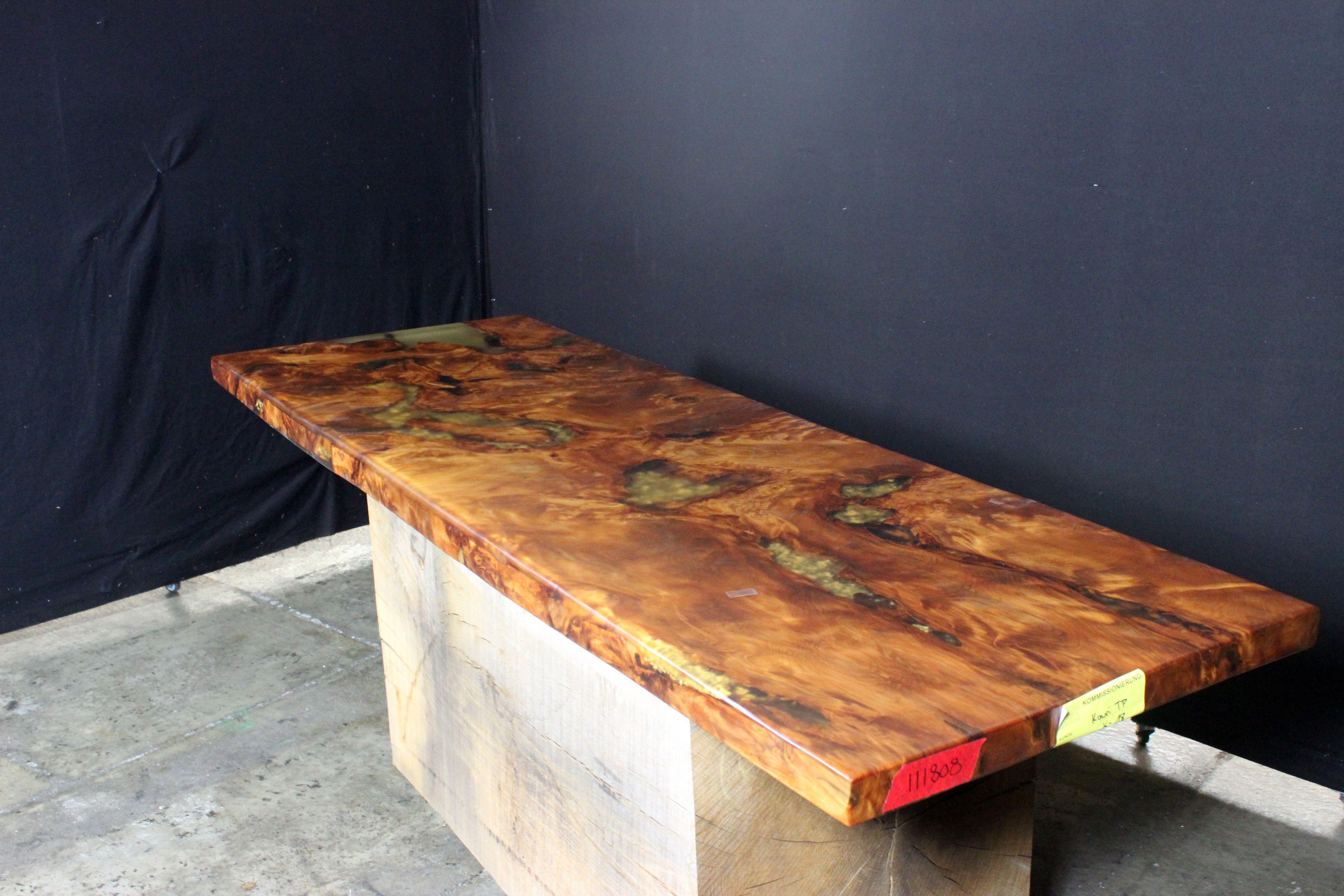 Kauri Diele K18 Br Lange 225 Cm Br Breiten 80 80 80 Cm Br Starke 6 5 Cm Tisch Wohnzimmertische Massivholztisch