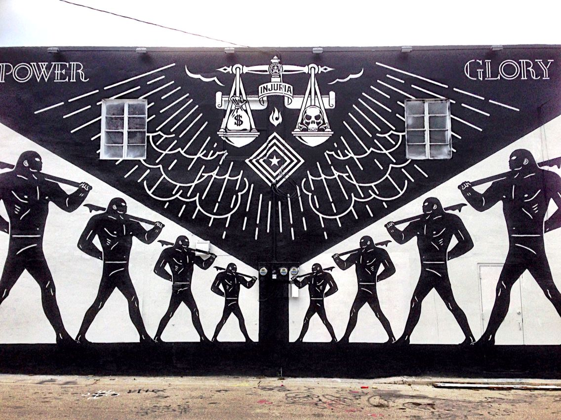 Live From Miami Mural By Cleon Peterson And Obey In Wynwood Www Urbanartnow Net Your Daily Source Of Best Street Art Miami Art District Urban Art Graffiti