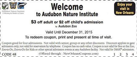 coupons new orleans aquarium