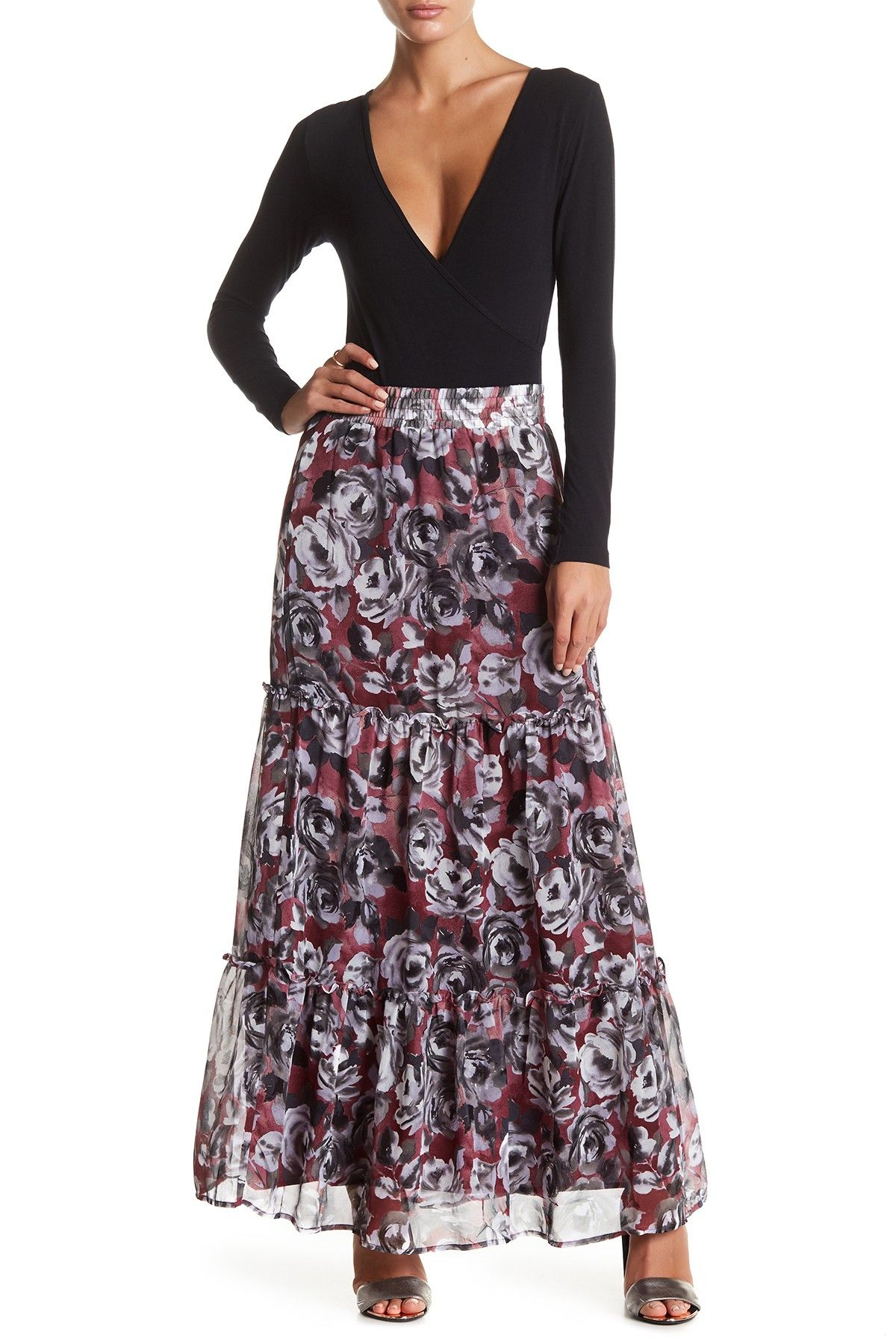 643a5587c1 Printed Tiered Maxi Skirt   Products   Skirts, Fall, Nordstrom