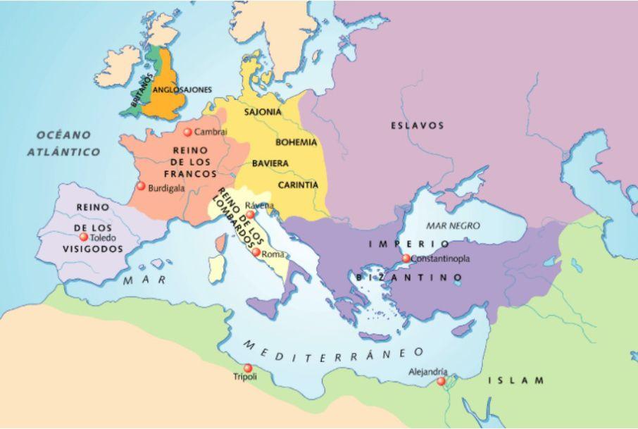 Eurpopa Tras La Caida Del Imperio Romano Imperio Romano Historia De Espana Imperio
