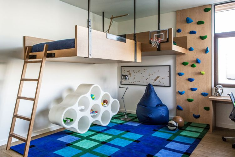 interaktives kinderzimmer mit kletterwand und hochbett kreatives pinterest kletterwand. Black Bedroom Furniture Sets. Home Design Ideas