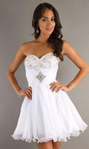 short white prom dresses 2014 | Gommap Blog