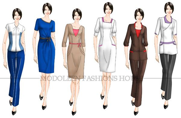 Spa and beauty uniform aprons pinterest apron for Uniform design for spa