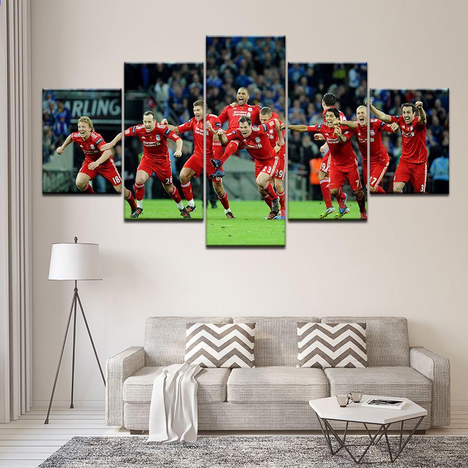 Pemain Sepak Bola Hebat Dari Klub Suarez Hd Print Untuk Dekorasi Rumah Kamar Tidur Lukisan Gambar Seni Di Atas Kanvas 5 Panel Bedroom Paint Bedroom Decor Decor