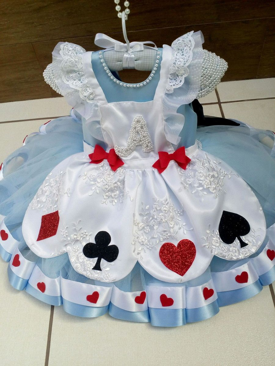 3845939c4 Vestido Alice no País das Maravilhas no Elo7