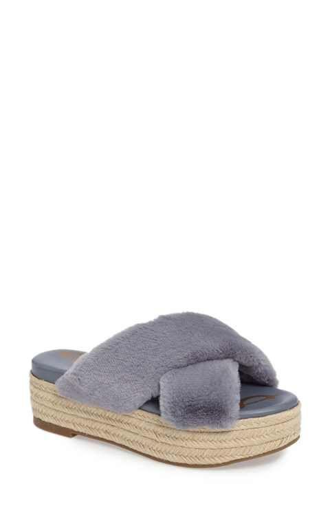 bbebbc8607c Sam Edelman Zia Faux Fur Platform Sandal (Women)