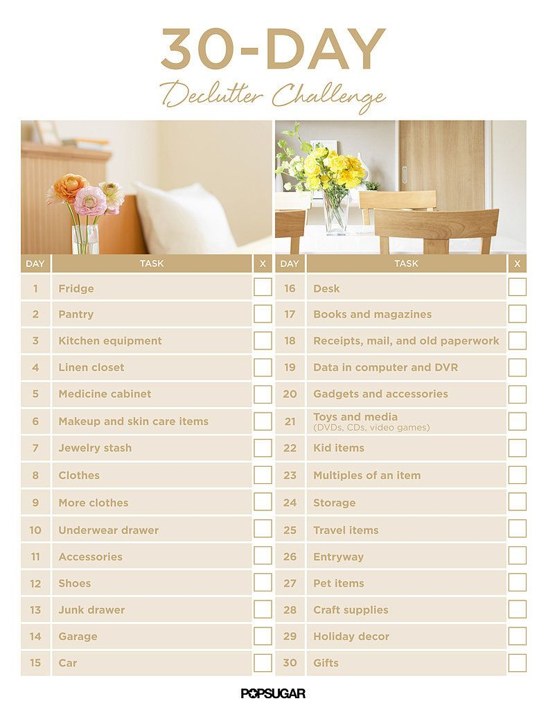 Get organized with the 30 day declutter challenge things for Declutter house plan