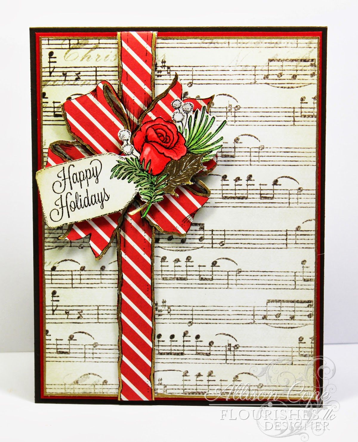 Music, Roses and Christmas - Allison Cope | Cards -- Christmas ...