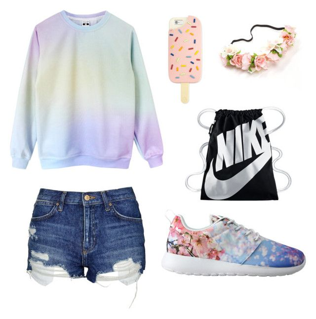 """""""Summer☀⛅"""" by anezka-majerova on Polyvore featuring Topshop, NIKE and Tory Burch"""