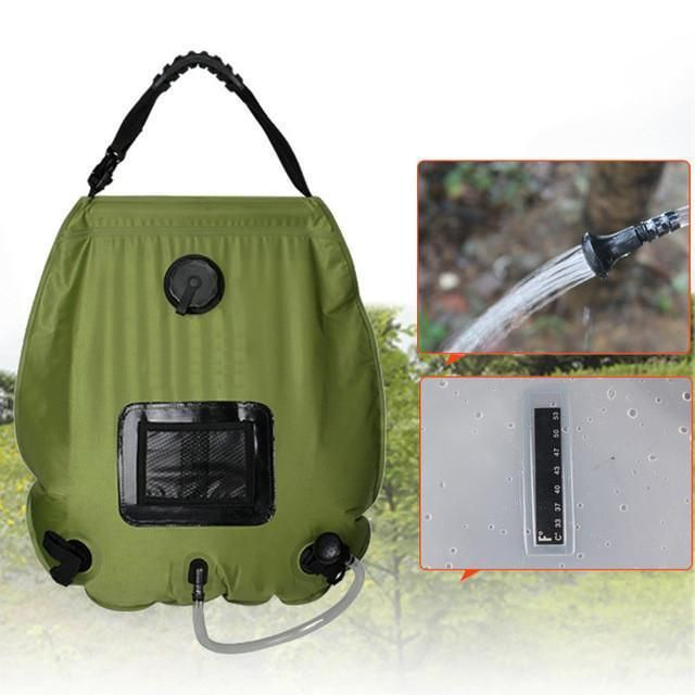 Outdoor 5 Gal Camping Solar Shower Water Bag Solar