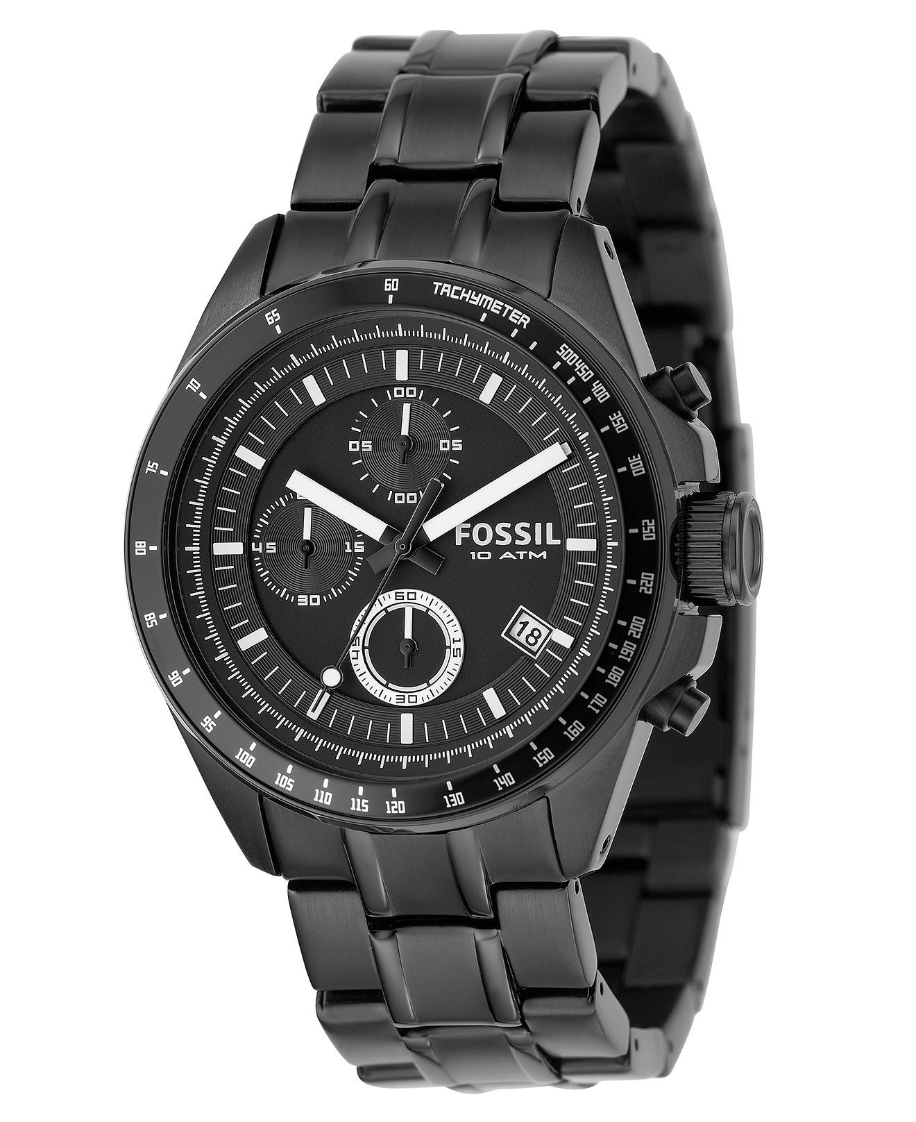 fossil watch men s chronograph decker black stainless steel fossil watch men s chronograph decker black stainless steel bracelet 40mm ch2601 men s watches