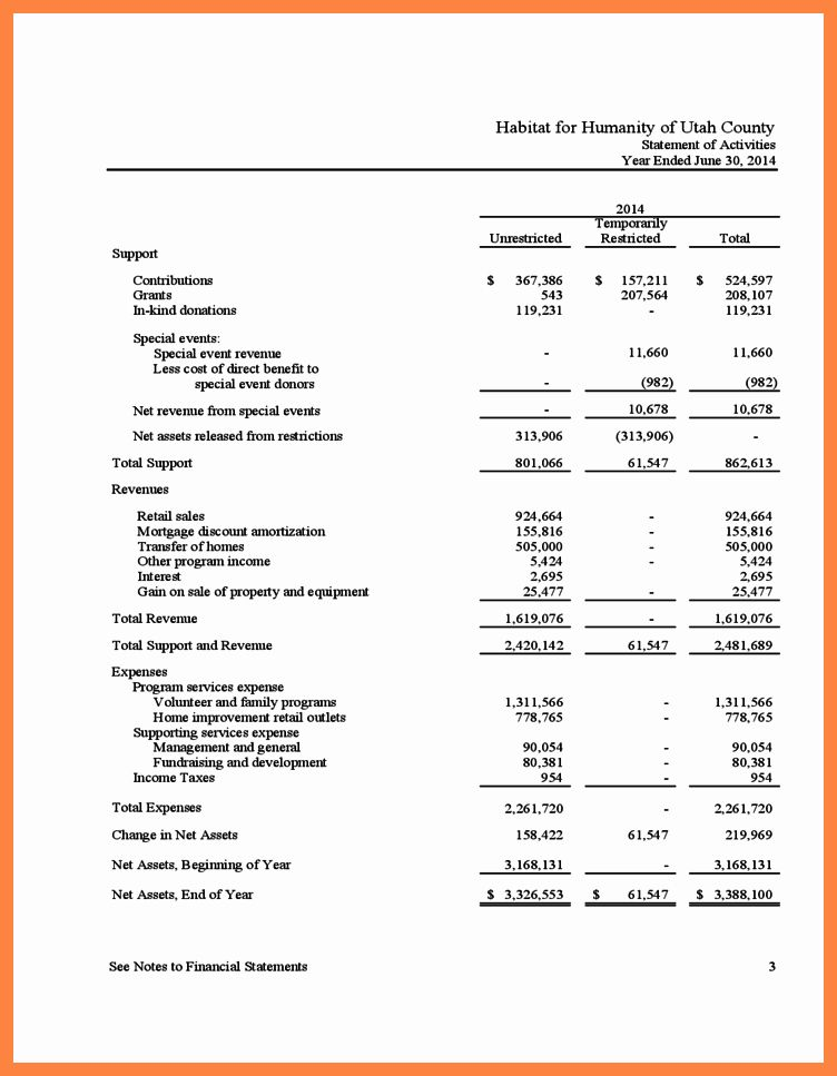 Non Profit Financial Statements Template Beautiful 5 Non