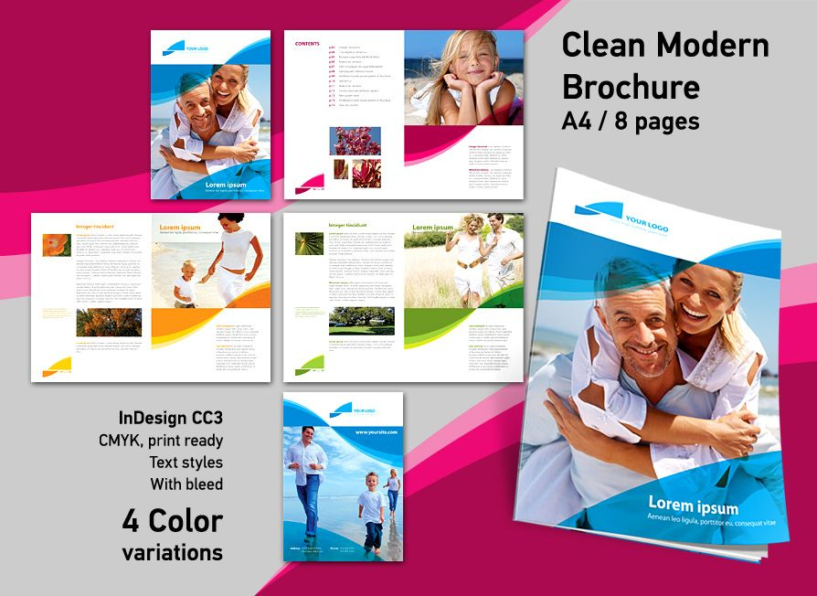 Brochure indesign template indesign pinterest for Adobe indesign brochure templates