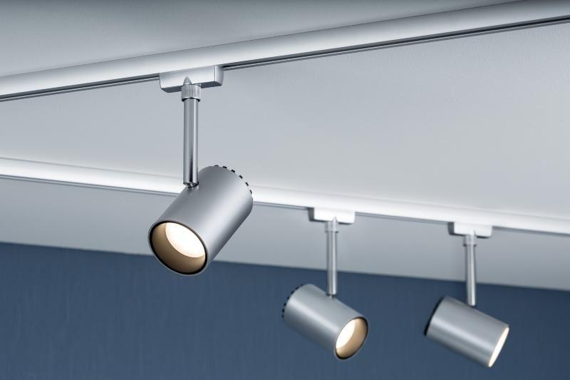 eclairage tableau eclairage sur rail plafond led spot shine 5w paulmann