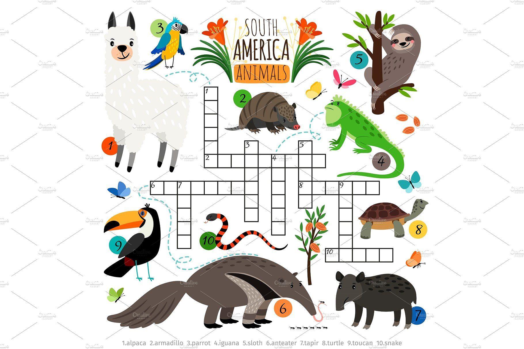American Animals Crossword American Animals South America Animals Animals