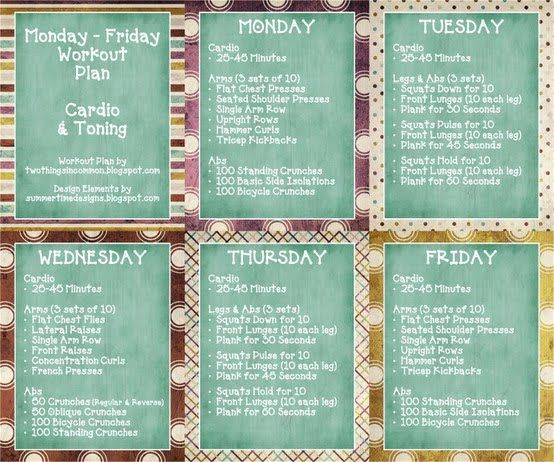 Monday to friday workout plan day diet weight loss for vegetarians also rh pinterest
