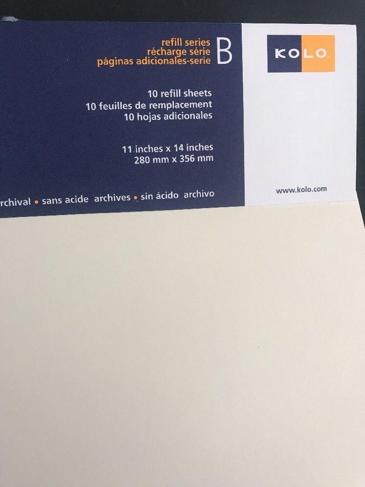 Kolo Series B Newport Refill Pages Album Scrapbook Soft White 11x14