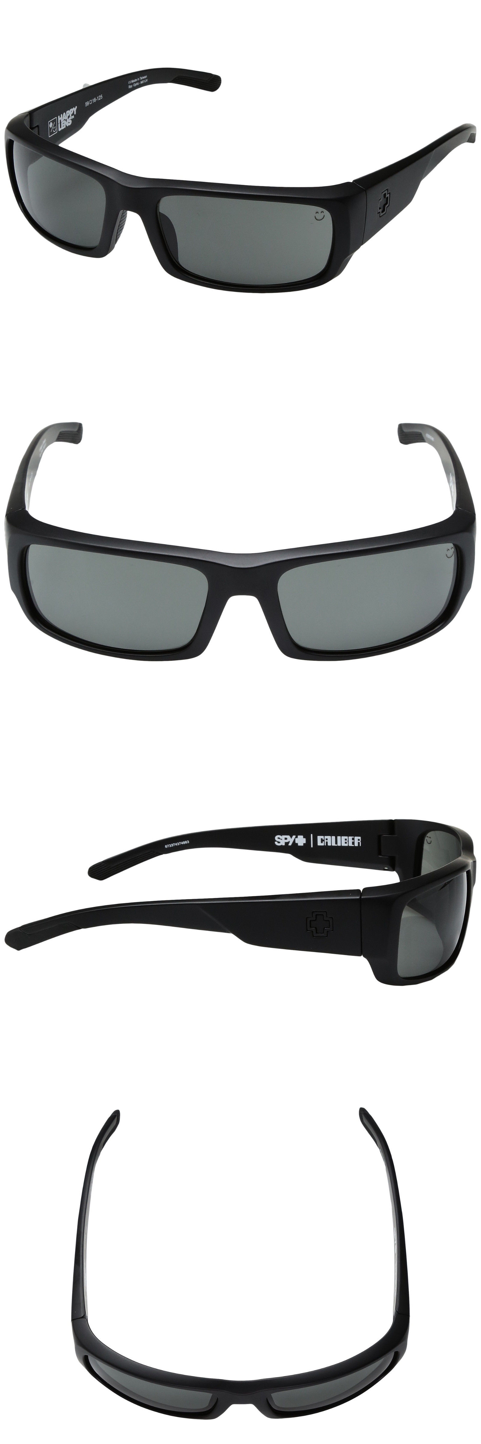3429f7b214 Sunglasses 155189  New Men S Spy Optic Caliber Wrap Sunglasses Matte Black  Happy Gray Green -  BUY IT NOW ONLY   36.99 on eBay!