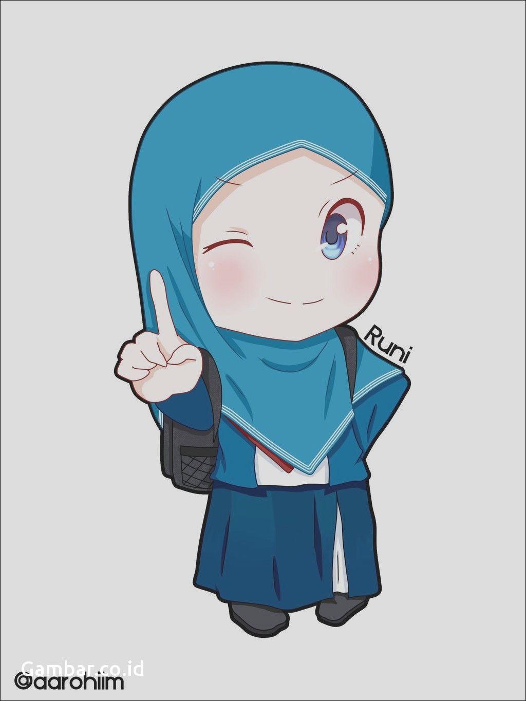 Gambar Kartun Muslimah Bercadar Bertauhid T Kartun Lukisan Keluarga Animasi