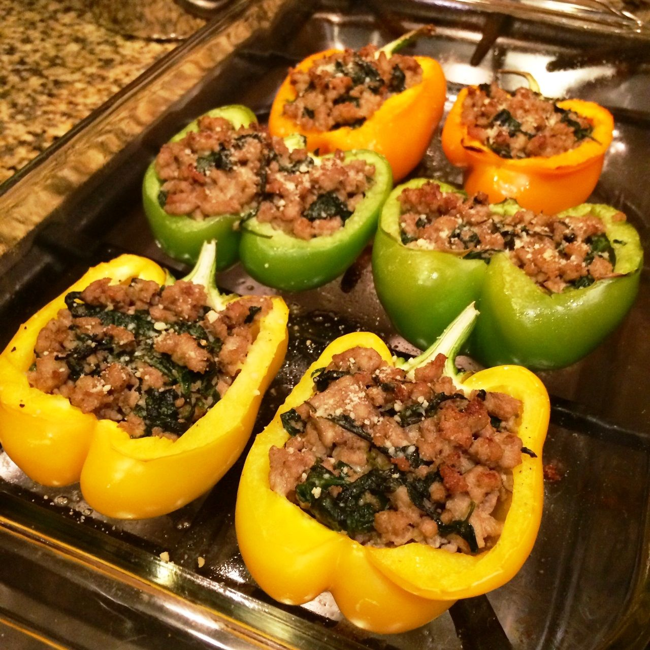 Turkey Florentine Stuffed Peppers - Beautiful, Healthy & Delicious | So Cal Mommy