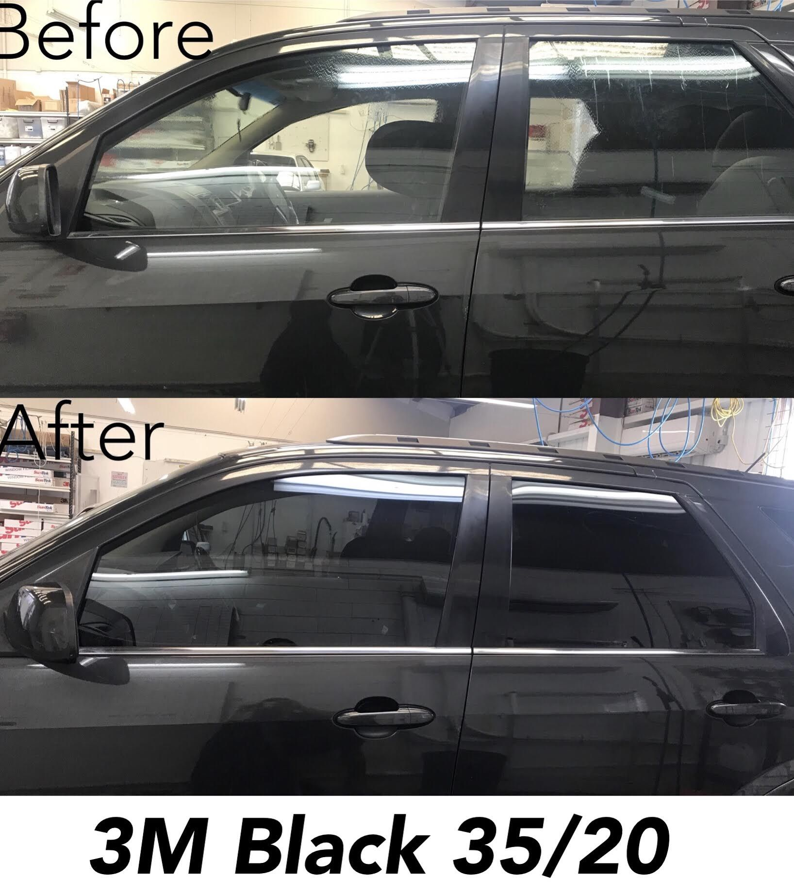 3m Black Window Tint 35 20 Before And After Photos Ford Territory Tinted Windows Car Tinted Windows Mobile Auto Repair