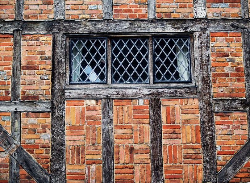 Brick infill or \'nogging\' - medieval timber frame house construction ...
