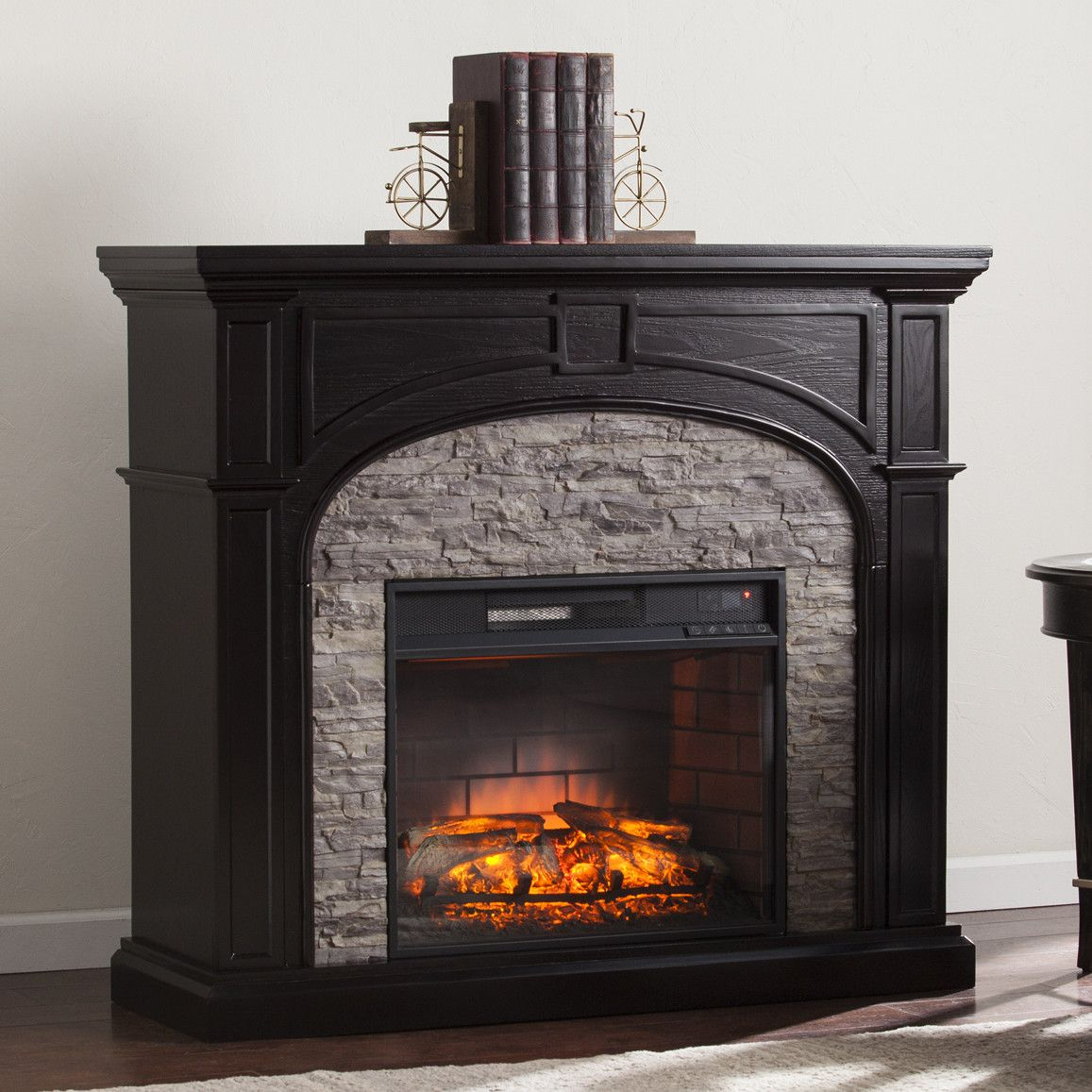 boylston stacked infrared electric fireplace electric fireplaces