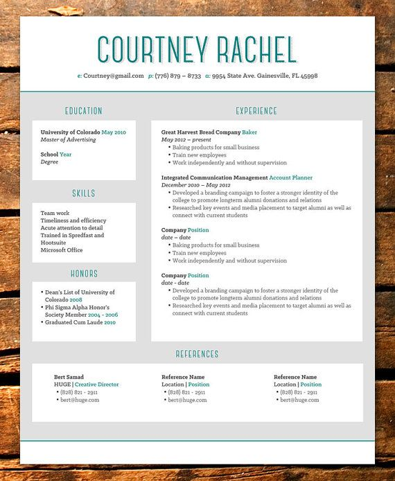 color block resume template templates free download word design