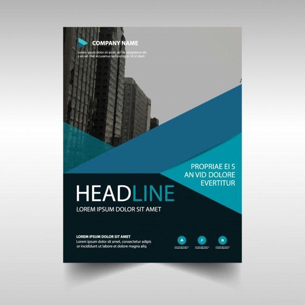 Blue Geometric Business Brochure Template Free Vector Free - Business brochure template