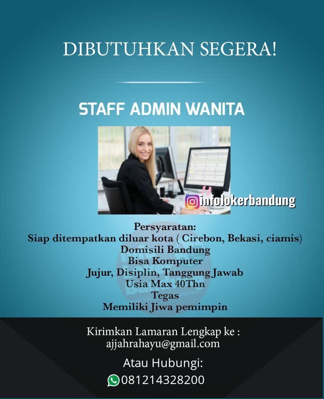 Lowongan Kerja Staff Admin Wanita Mei 2019 Kota Cirebon Kota Periklanan