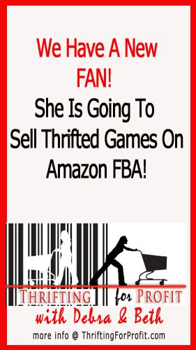 Thrifting For Profit Fan - She is Selling Games On Amazon FBA