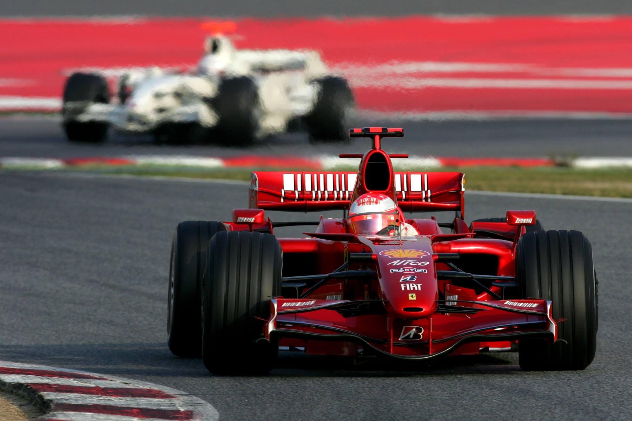Michael Schumacher Ferrari F Barcelona Test  X