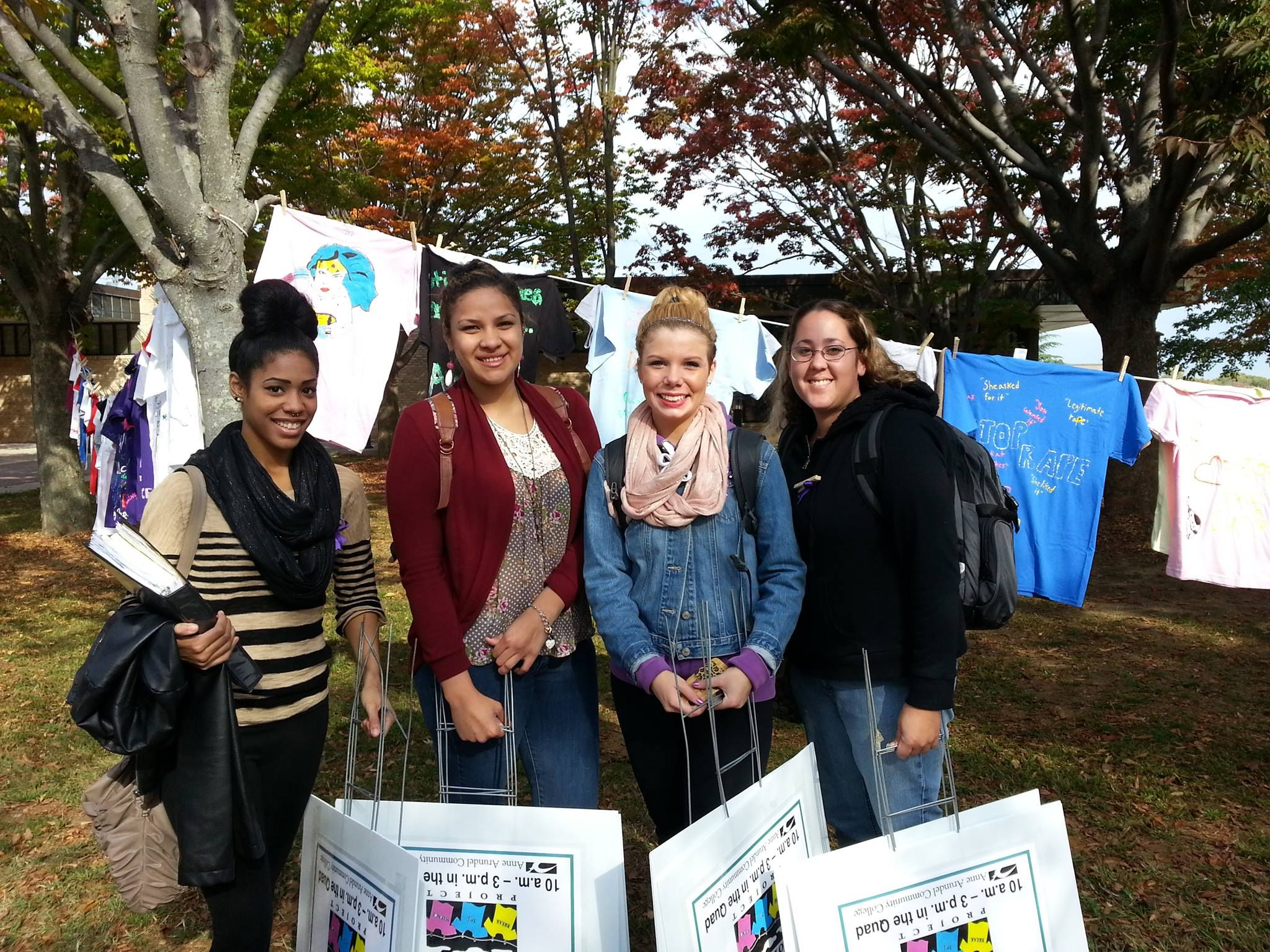 Social Justice in action with annual Clothesline Project