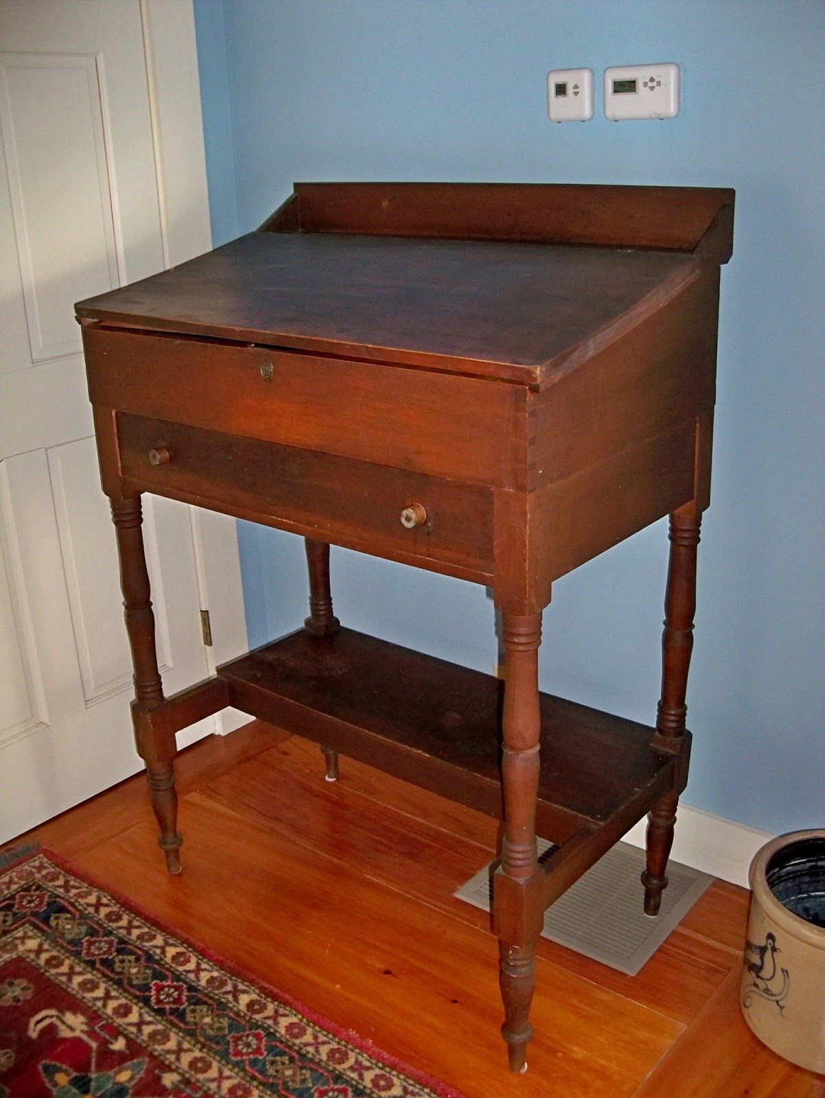 Antique Standing Desk For Sale Writing Desk Leather Inlay