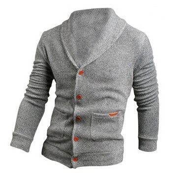 Men Fashion Knitted Sweater Coat