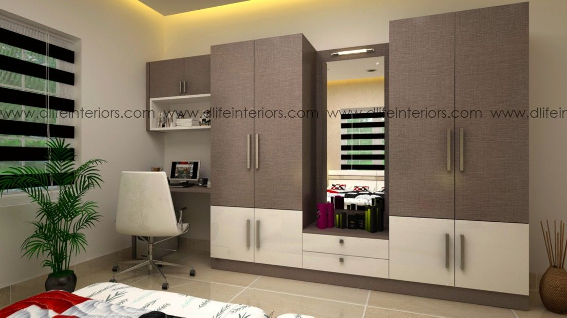 Personalized Wardrobe In Kerala And Bangalore With Tan Cambric And Glossy White Fi Wardrobe Design Bedroom Small Room Wardrobe Ideas Bedroom Design Inspiration
