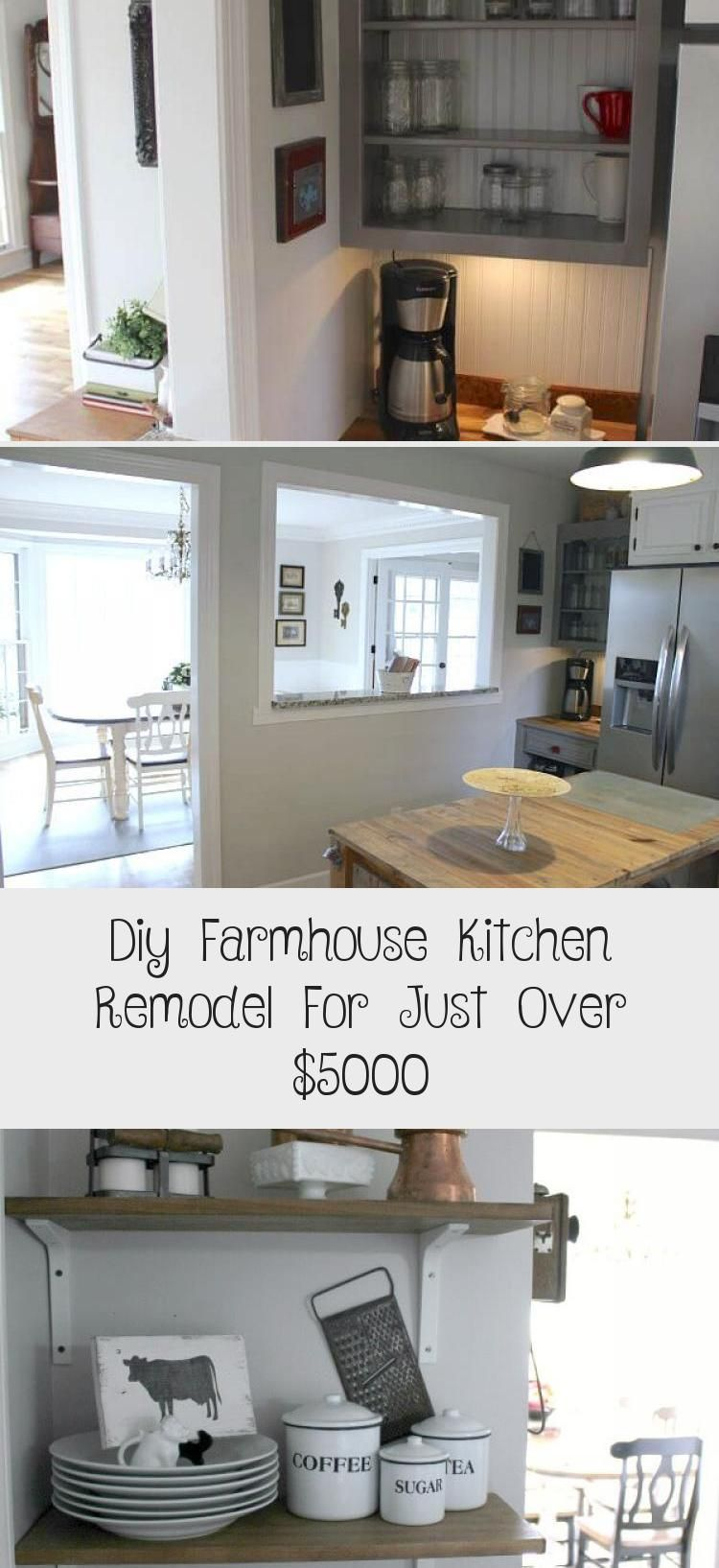 diy farmhouse kitchen remodel for just over 5000 kitchen decor in 2020 farmhouse kitchen on kitchen remodel under 5000 id=81058