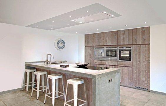 Steigerhout kookeiland google zoeken keuken pinterest zoeken google en keuken - Lounge en keuken in dezelfde kamer ...