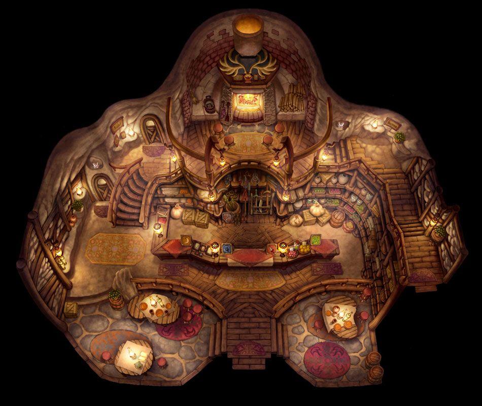 Patcher\'s Place Interior   Games   Art, Golden sun, Fantasy art