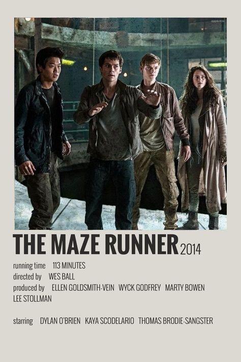 The maze runner polaroid movie poster