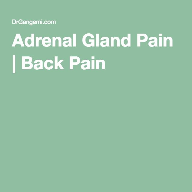 Adrenal Gland Pain | Back Pain