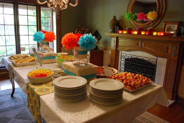 Fiesta Bridal Wedding Shower Party Ideas Bridal Shower Tables