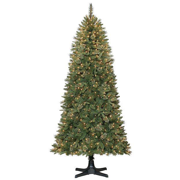 DONNER & BLITZEN 7.5' Christmas Lowell Cashmere Pine Tree, Clear Lights - DONNER & BLITZEN 7.5' Christmas Lowell Cashmere Pine Tree, Clear